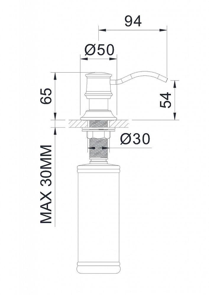 Дозатор для рідкого мила Imprese PODZIMA LEDOVE ZMK02170830 ... 560b0d9fc702b
