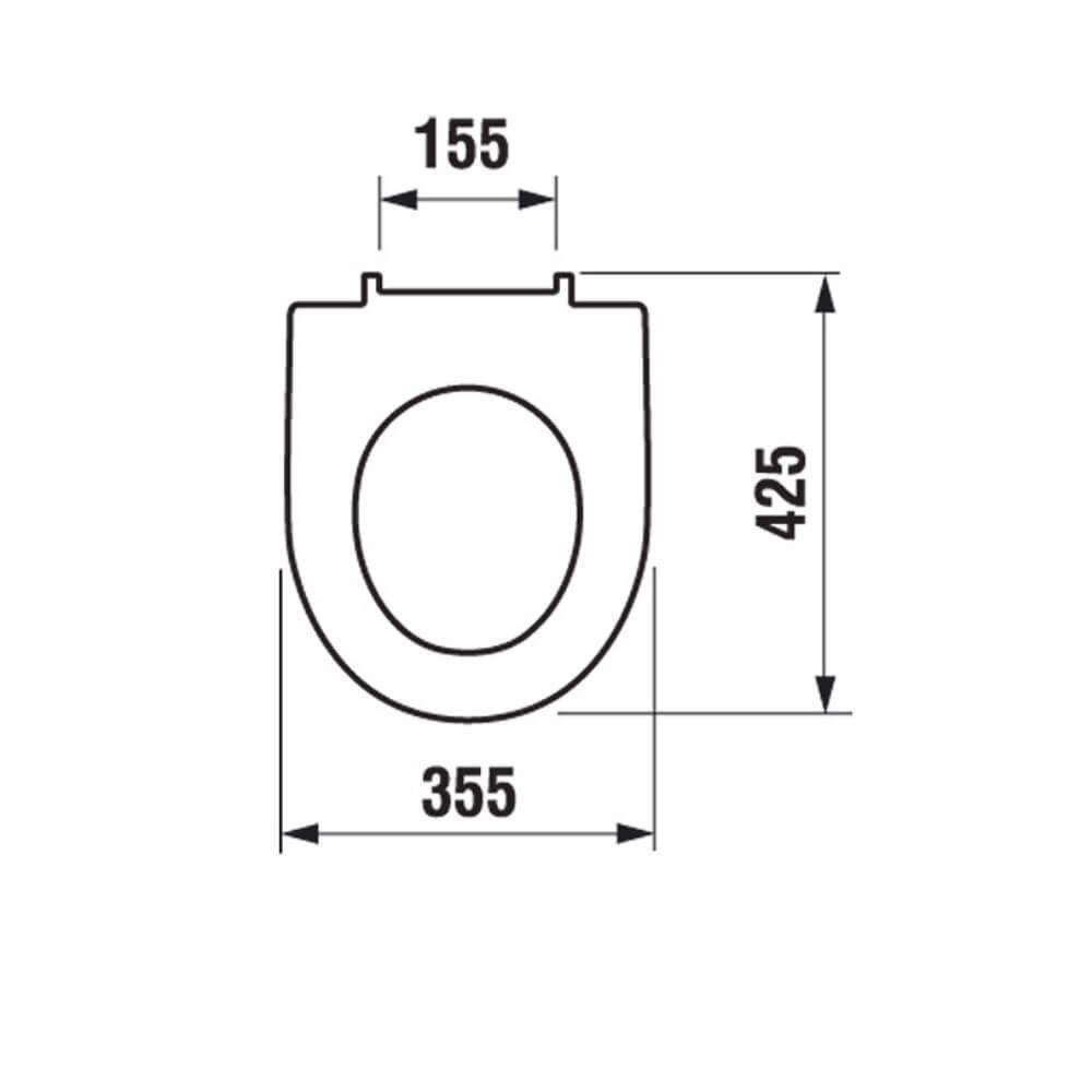 Сидіння для унітазу Jika Tigo дюропластове adb6456d95d2f